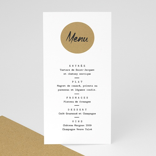 Menu de Mariage - Kraft Love 67561 thumb