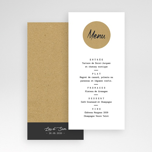 Menu de Mariage - Kraft Love 67562 thumb