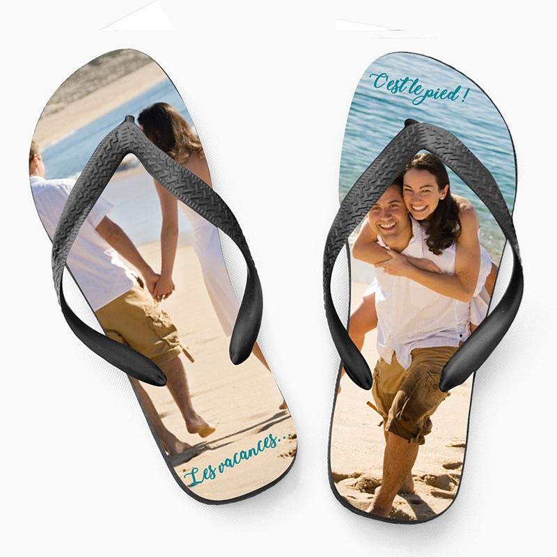 Tong personnalisée Tongs, sandales avec Photo