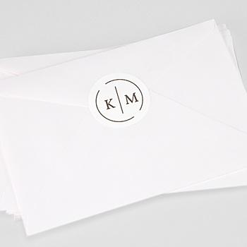 Étiquette autocollante mariage - Initiales Modernes - 0
