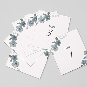 Marque Table Mariage - Bleu botanique - 0
