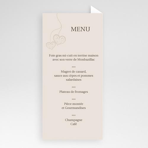 Attractif Menu Mariage Personnalisé - Nous deux - Menu | Carteland.com PV45