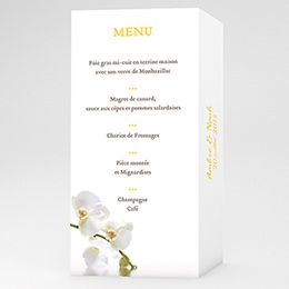 Menu Le Lunch de l'Orchidée