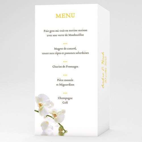 Menu Mariage Personnalisé Le Lunch de l'Orchidée