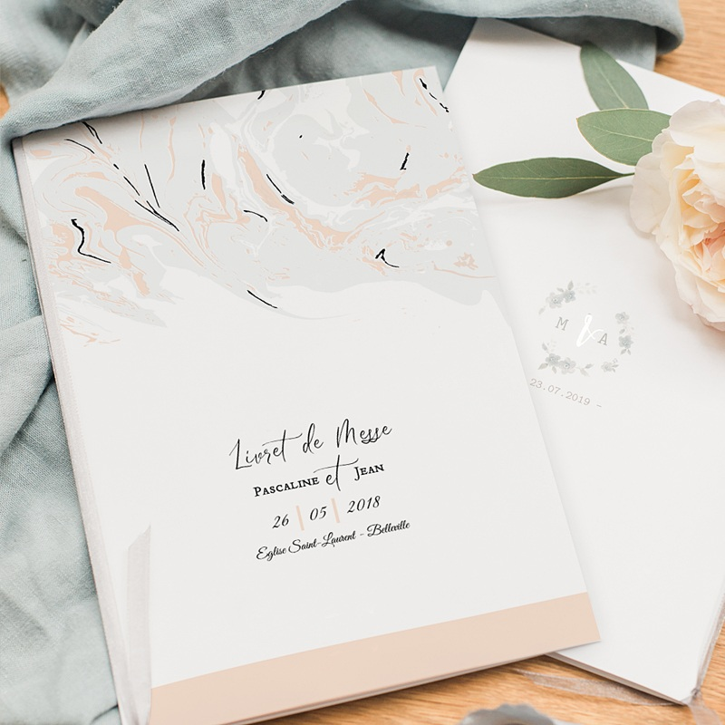Livret Messe Mariage Marbre Forever pas cher