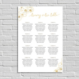 Poster Mariage Vintage Orchids