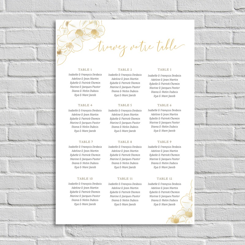 Plan de Table Mariage - Vintage Orchids 67727 thumb