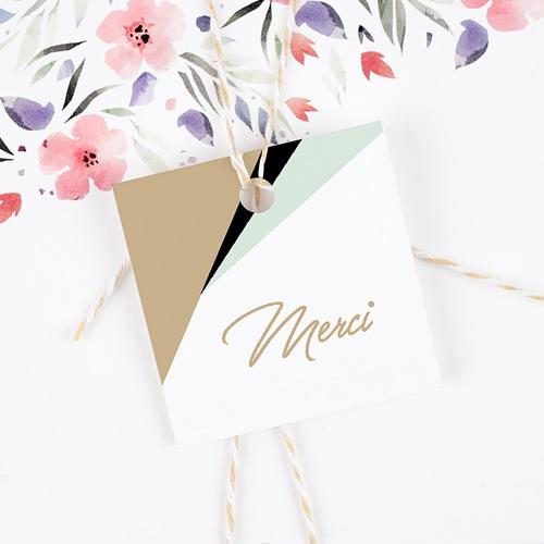 Etiquette Cadeau Mariage Vert & Doré gratuit