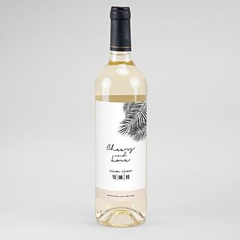 Création étiquette bouteille mariage vin oasis