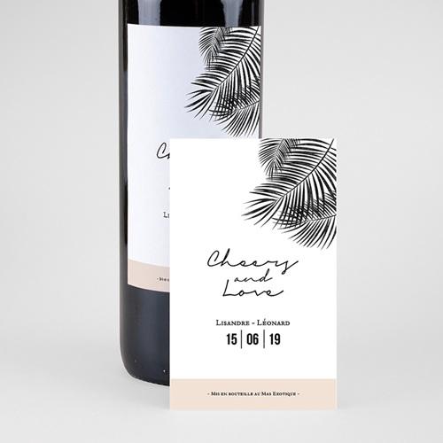 Étiquette bouteille mariage vin Oasis pas cher