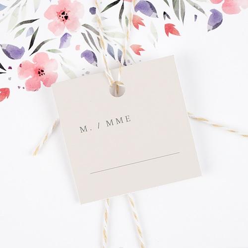 Marque place mariage Botanique Minimaliste gratuit