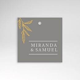 Etiquette mariage Minimal Botanic