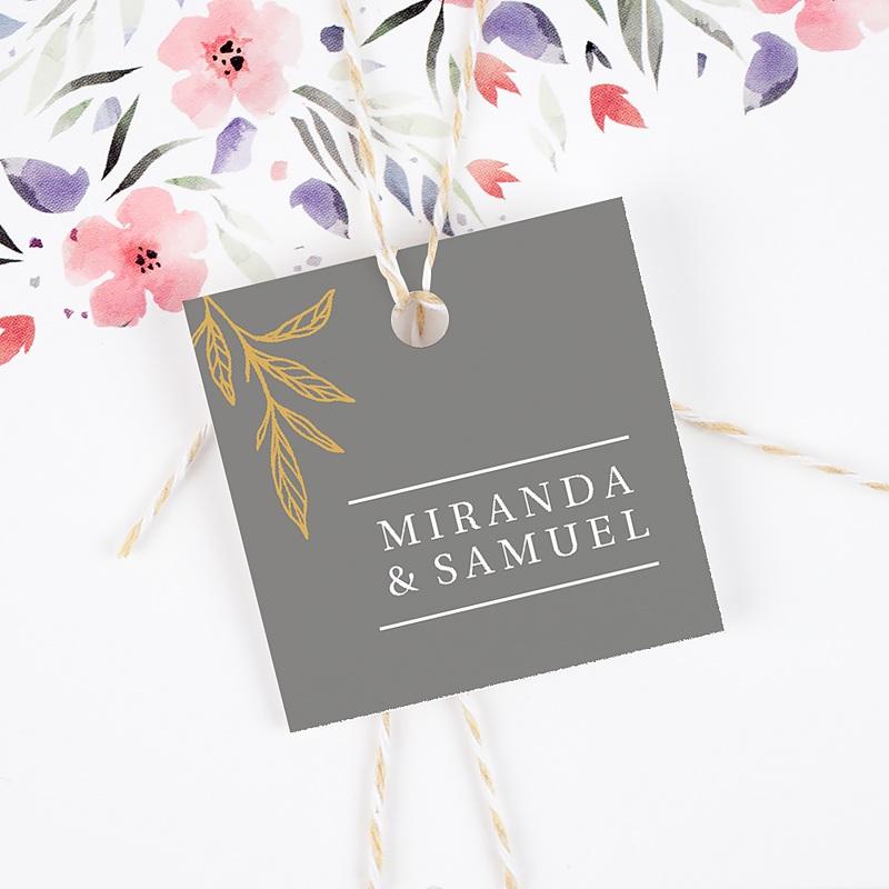 Etiquette Cadeau Mariage Minimal Botanic gratuit