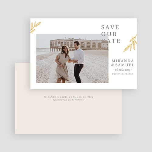 Save The Date Mariage Botanique Minimaliste gratuit
