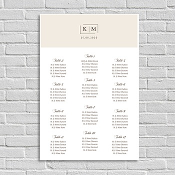 Achat plan table mariage modern nude