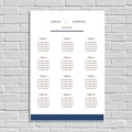 Plan Table Mariage Blue Color Touch
