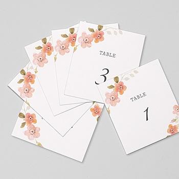 Marque Table Mariage - Rose Botanique - 0