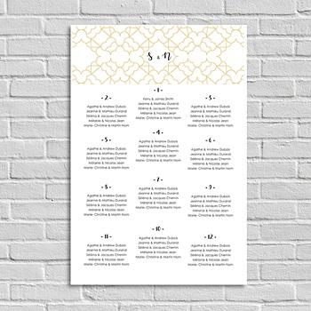 Plan table mariage Alhambra