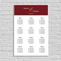 Plan Table Mariage Rouge Ottoman
