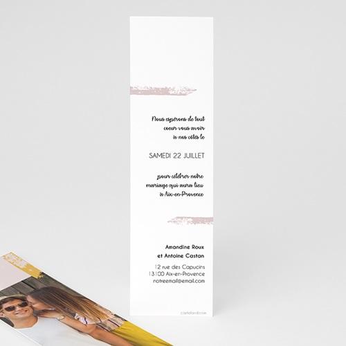 Save The Date Mariage Rose quartz pas cher