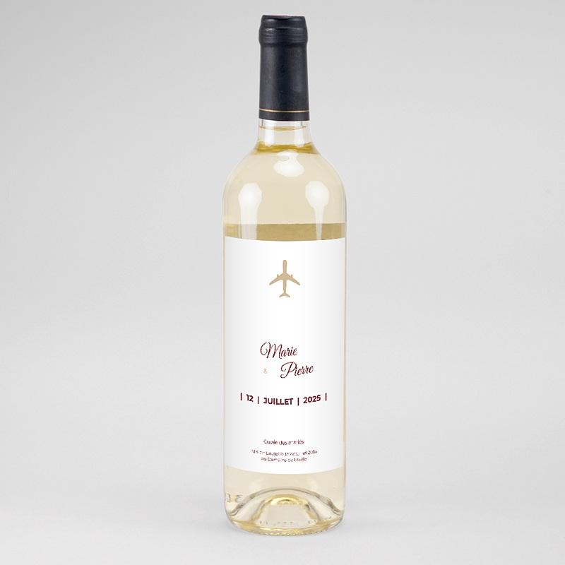 Étiquette bouteille mariage vin Wedding Pass