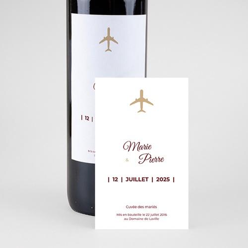 Étiquette bouteille mariage vin Wedding Pass pas cher