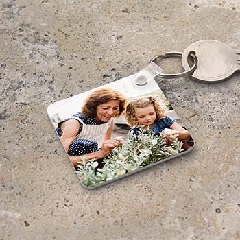 Porte-clés personnalisé - Porte-clefs carré avec photo - 2