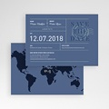Save The Date Mariage Blue Wedding Pass pas cher
