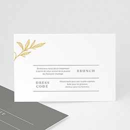 Carte invitation mariage Minimal Botanic