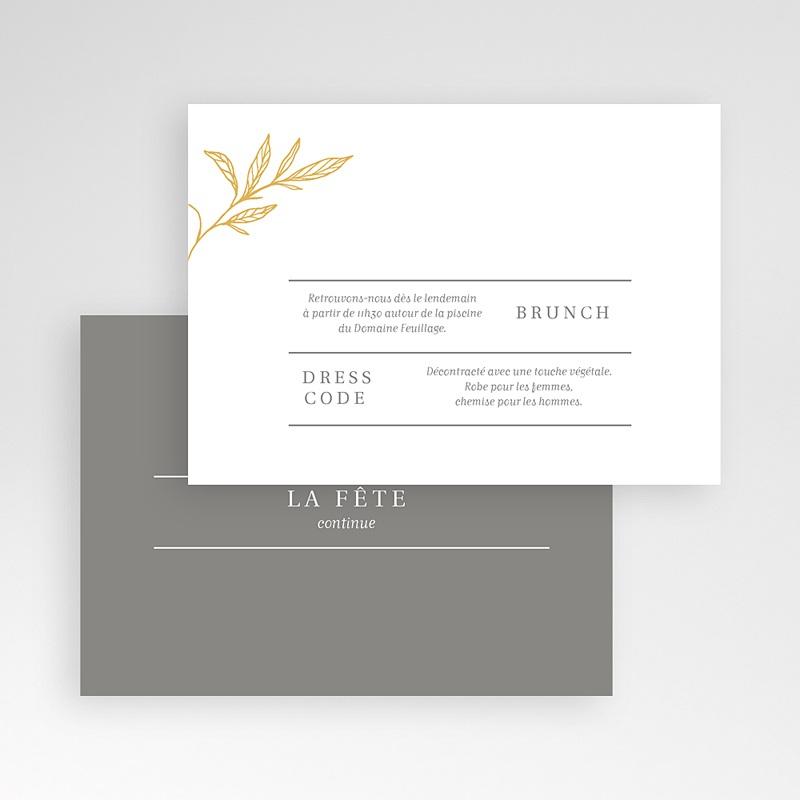 Carte invitation mariage Minimal Botanic pas cher