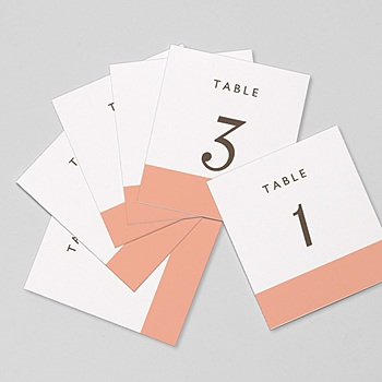 Marque Table Mariage - Color Touch - 0