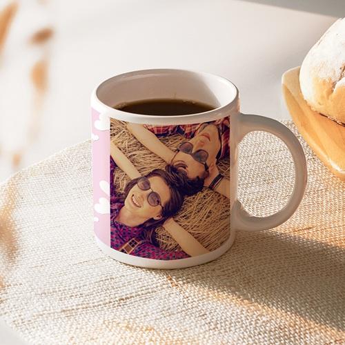Mug Personnalisé Photo Fleurettes