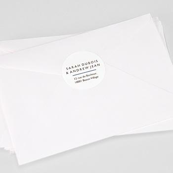 Étiquette autocollante mariage - Blue Color Touch - 0