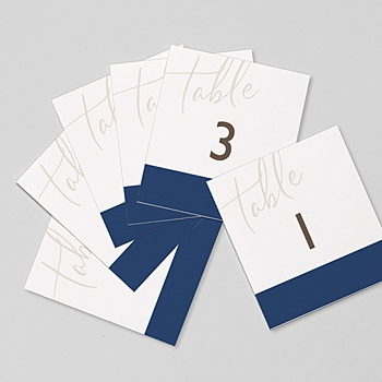 Marque Table Mariage - Blue Color Touch - 0
