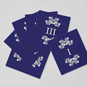 Marque Table Mariage - Bleu Ottoman - 0