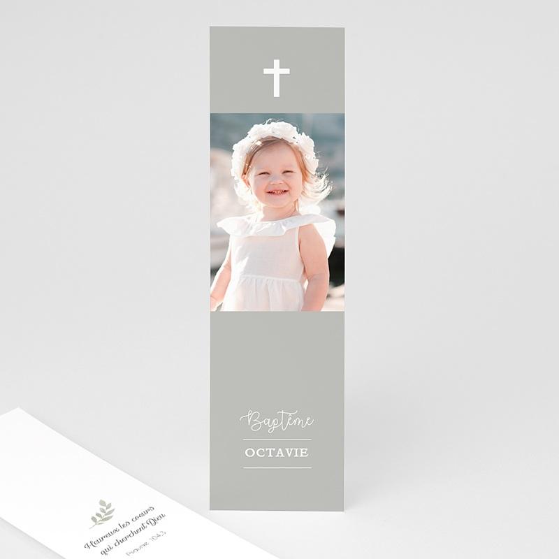 Marque Page Baptême Lumière beige