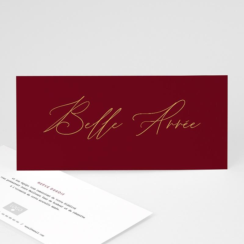 Carte de Voeux Entreprise Golden Red Year