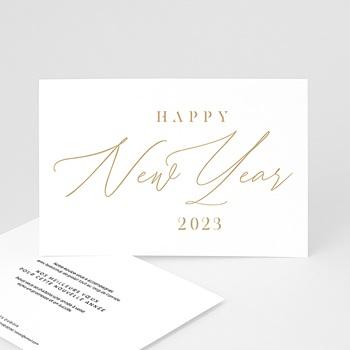 Carte de Voeux Professionnelle - Calligraphic Year - 0