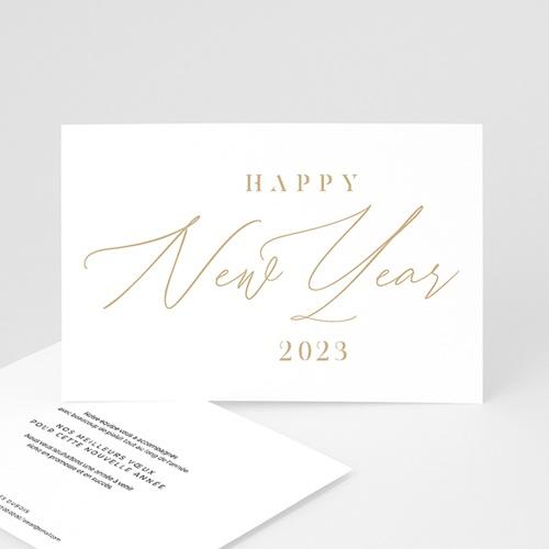 Carte de Voeux Entreprise Calligraphic Year