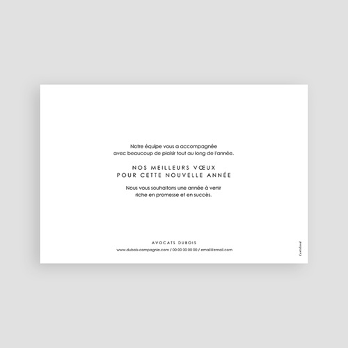 Carte de Voeux Entreprise Calligraphic Year pas cher