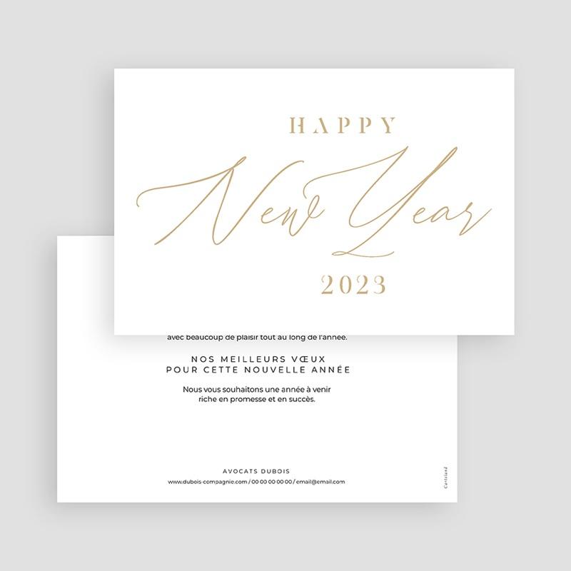 Carte de Voeux Entreprise Calligraphic Year gratuit
