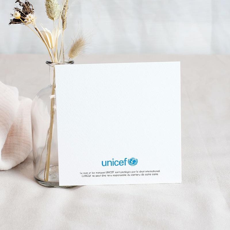 Carte Remerciement Naissance UNICEF Célestin le lapin pas cher