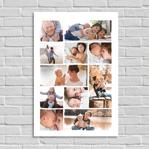 Poster photo Patchwork famille