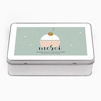 Boîte en métal personnalisée - Cup cake - 0