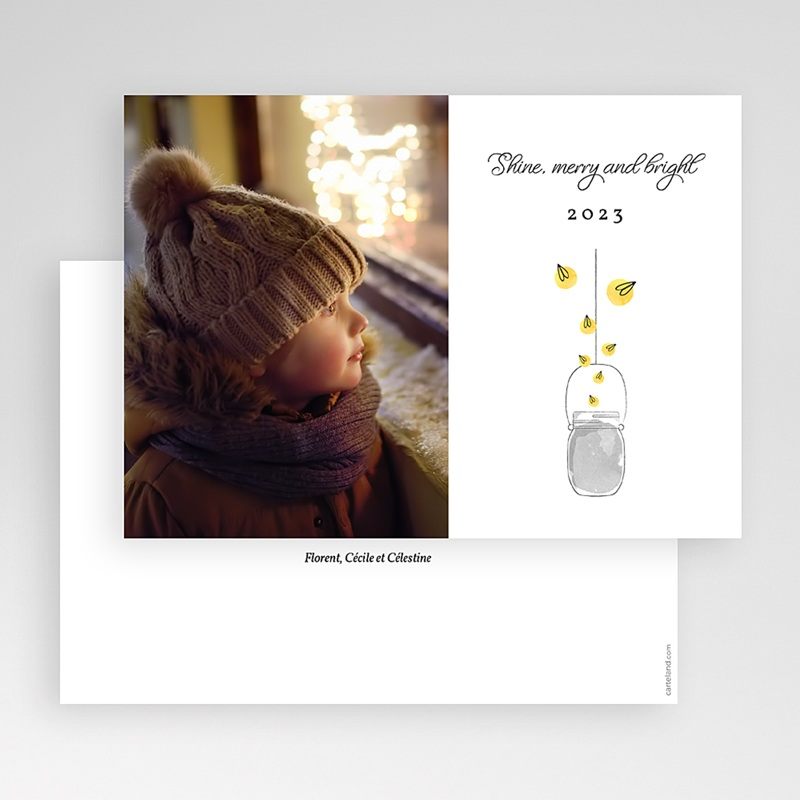 Carte de Voeux Merry & Bright gratuit