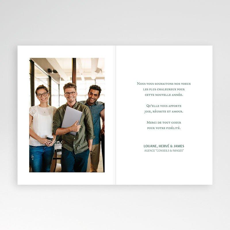 Carte de Voeux Entreprise Bicolore pas cher