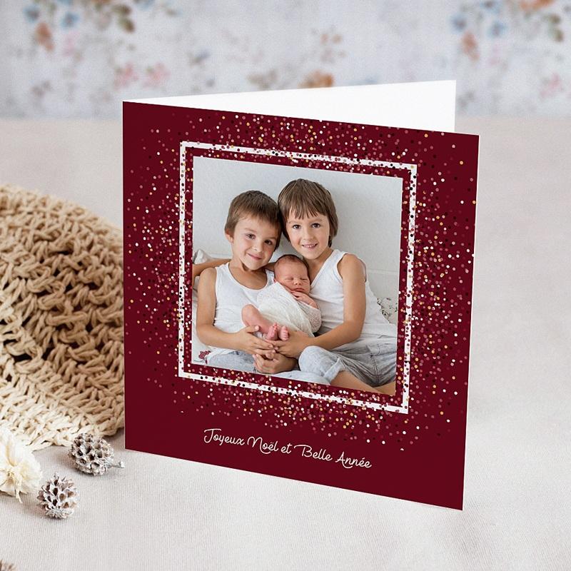 Carte de voeux Joyeux Noël et bonne année Pétillant