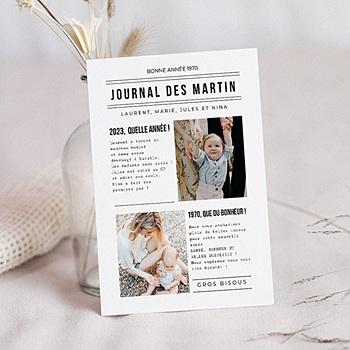 Carte de voeux Bonne année Journal Familial à personnaliser