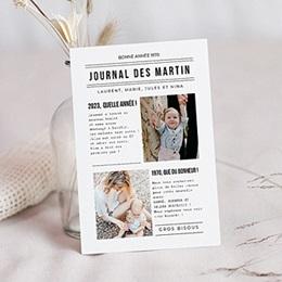 Voeux Nouvel An Journal Familial