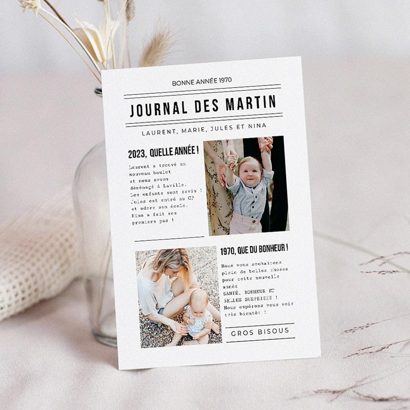 Carte de Voeux Bonne année Journal Familial